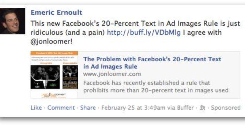 Domain Sponsored Story: formato de Facebook Ads con mejor resultado