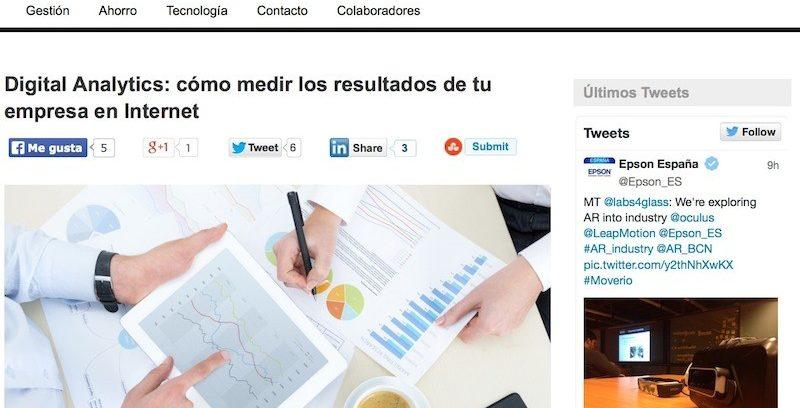 """Artículo """"Digital Analytics: cómo medir los resultados de tu empresa"""""""