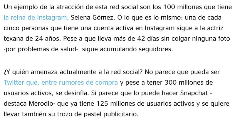 Artículo: «Instagram arrasa entre los millennials» - Juan Merodio
