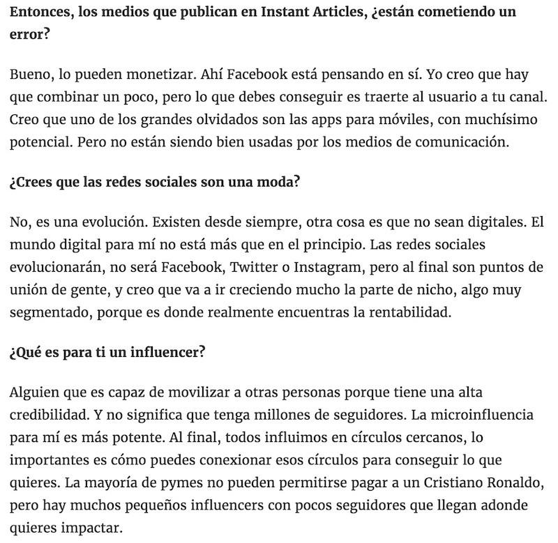El poder de los influencers no depende del volumen de seguidores - Juan Merodio
