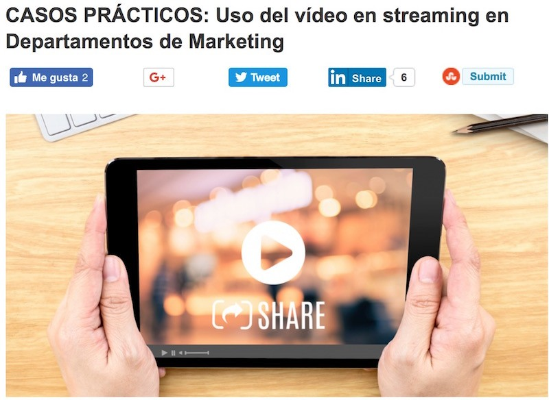 CASOS PRÁCTICOS: Usos del vídeo streaming en Marketing - Juan Merodio