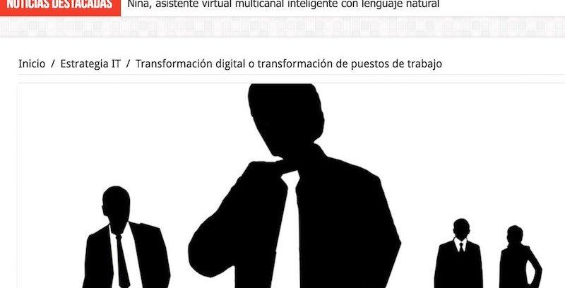 ¿Transformación digital o transformación de puestos de trabajo?