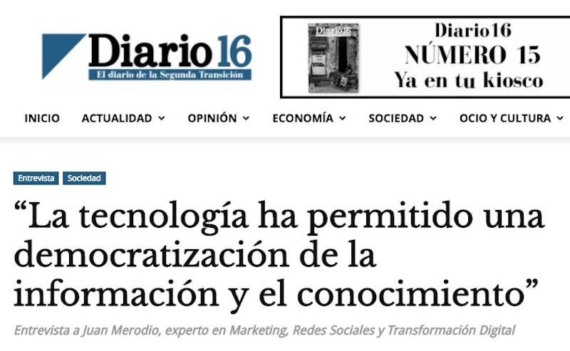 La tecnología democratiza la información y el conocimiento - Juan Merodio