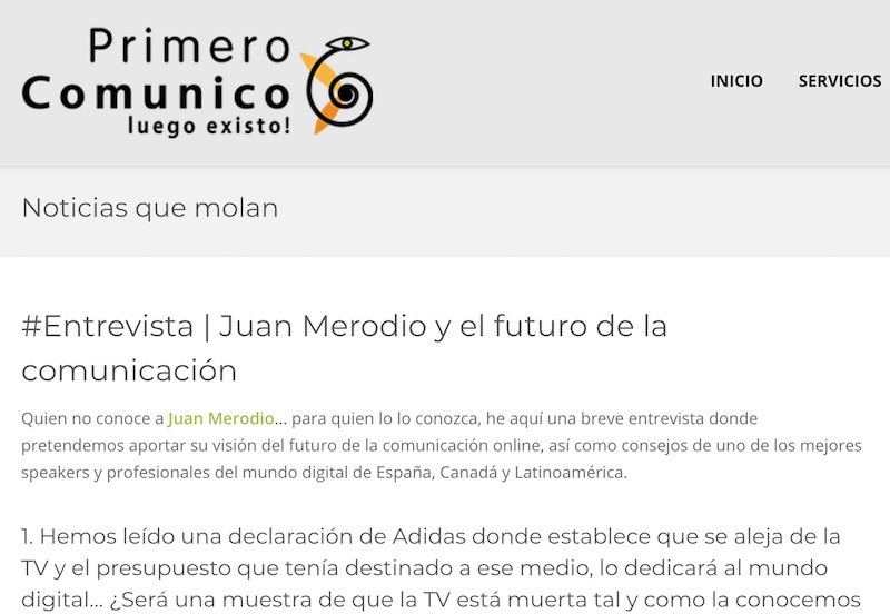 El futuro de la Comunicación Online y el Marketing Digital - Juan Merodio