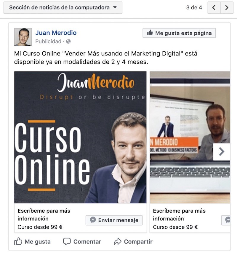 Nuevos clientes con la PUBLICIDAD de FACEBOOK MESSENGER para Empresas - Juan Merodio