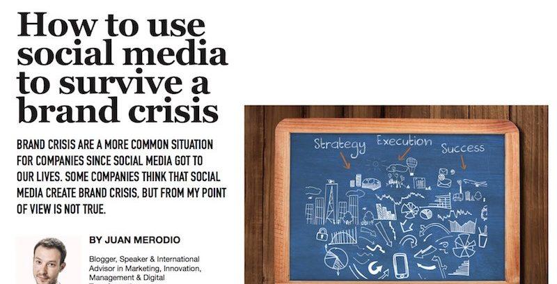 Cómo Usar el Social Media para Sobrevivir a una Crisis de Marca