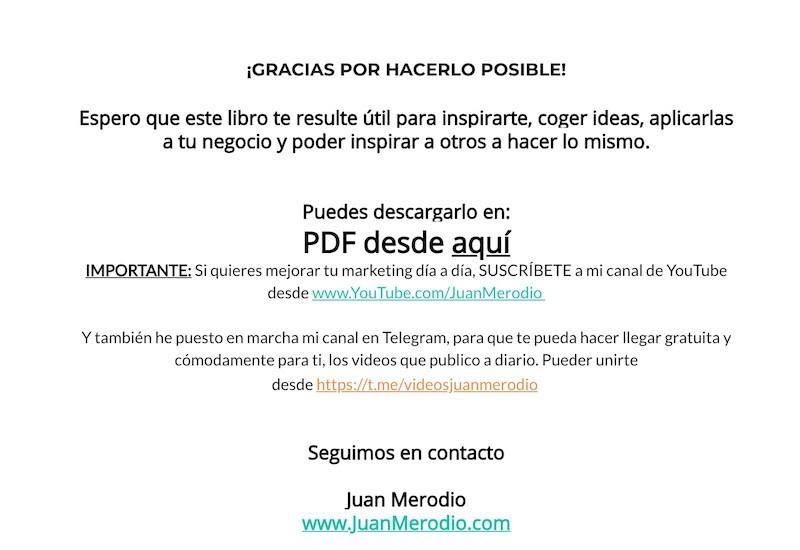 La página de agradecimiento web que vende - Juan Merodio