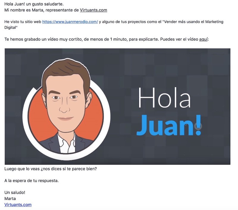 Campaña de Marketing Digital con Video - Juan Merodio