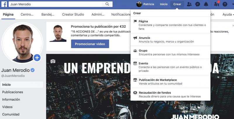Cómo crear una fanpage de Facebook tras los últimos cambios