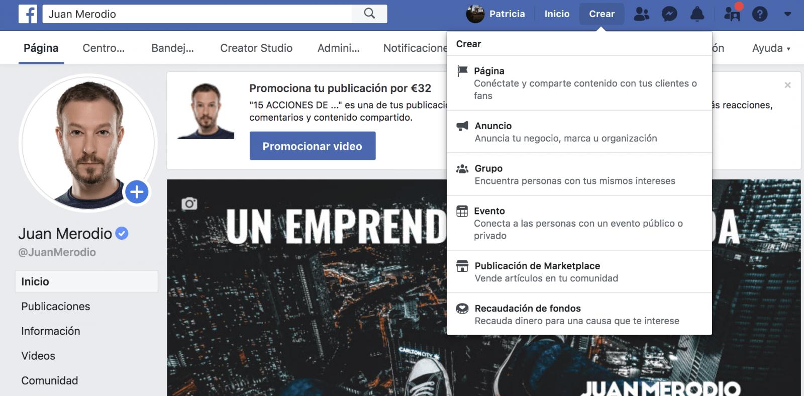 Cómo crear una fanpage de Facebook tras los últimos cambios - Juan Merodio