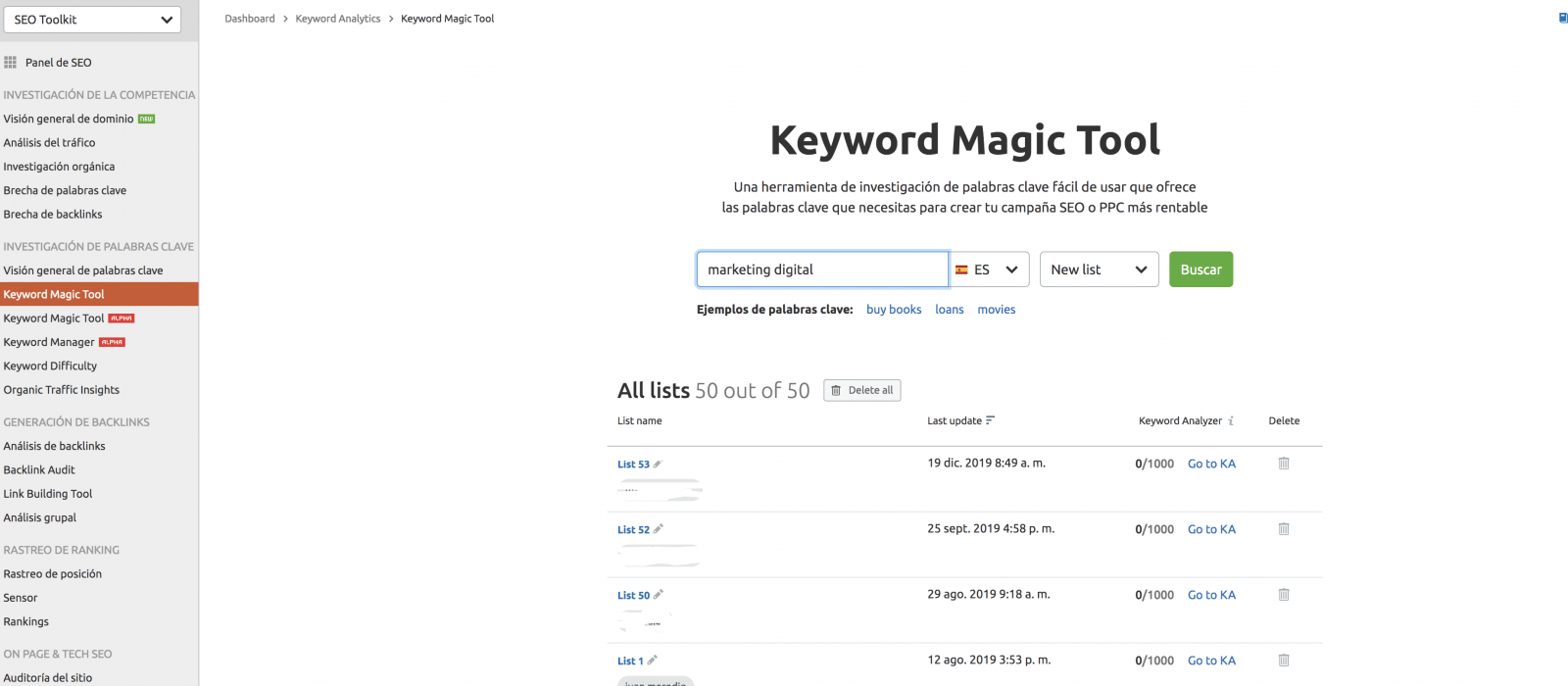 semrush_keyword magic tool