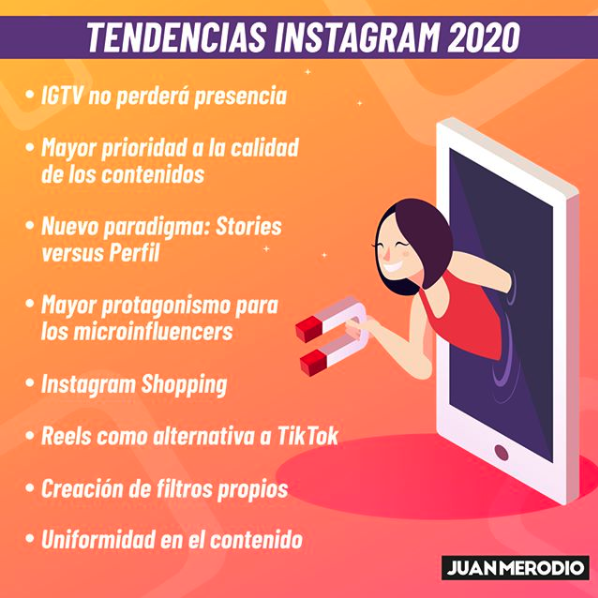 estrategias de marketing en instagram infografía