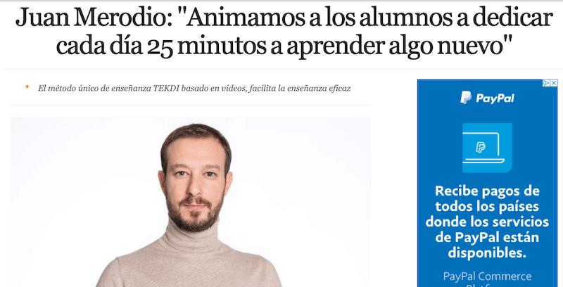 """Juan Merodio: """"Animamos a los alumnos a dedicar cada día 25 minutos a aprender algo nuevo"""""""