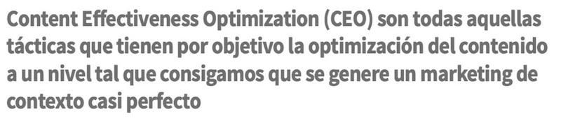 Content Effectiveness Optimization