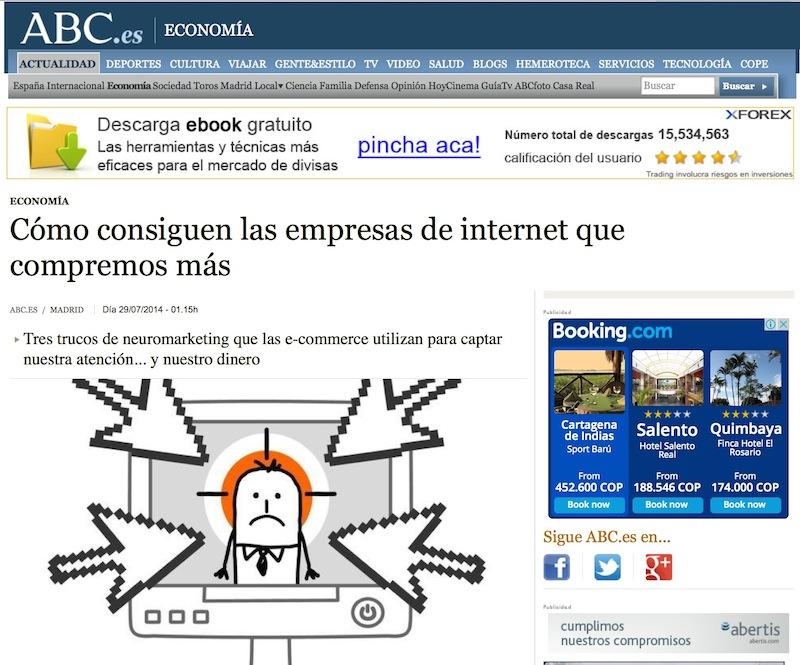 Artículo: «Cómo consiguen las empresas de Internet que compremos más» - Juan Merodio