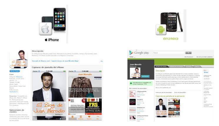 Descarga gratis las aplicaciones para iPhone y Android de mi blog - Juan Merodio