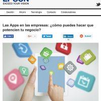 """Artículo: """"Las Apps en las empresas: ¿cómo potenciar tu negocio?"""" - Juan Merodio"""