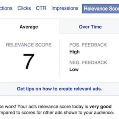 Facebook Relevance Score: conoce la calidad de tus campañas en FB