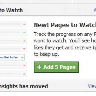 """Facebook está Probando una Herramienta para Monitorizar a la Competencia llamada """"Pages to Watch"""""""