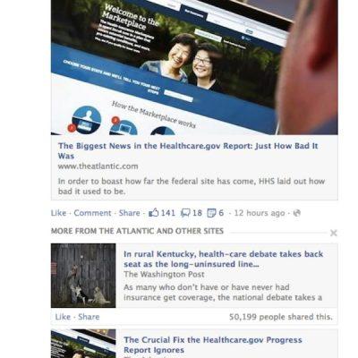Facebook mostrará Artículos Relevantes en las Actualizaciones
