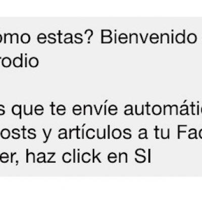 Un Bot en Facebook Messenger para seguir las actualizaciones del blog
