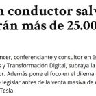 """Artículo: """"Los coches sin conductor salvarán 2.500 vidas y evitarán más de 25.000 accidentes graves"""" - Juan Merodio"""