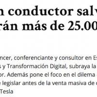 """Artículo: """"Los coches sin conductor evitarán más de 25k accidentes"""" - Juan Merodio"""