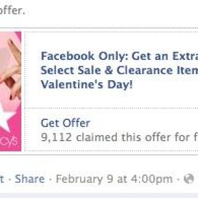 Facebook prueba un Nuevo Sistema de Cupones en las Páginas de Fans