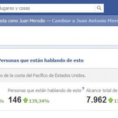 Actualización de las estadísticas de Facebook en la página de fans