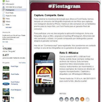 Ford apuesta por lo concursos en Instagram integrados con Facebook