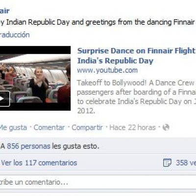 Finnair: acción Viral en un avión para Celebrar el Día de la India