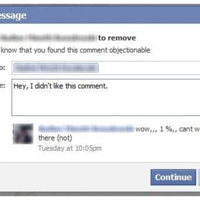 Facebook informará a los fans de por qué se ha borrado su comentario