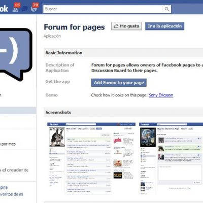 App para crear un sistema de foros en tu página de fans de Facebook