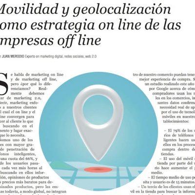"""Artículo: """"Geolocalización como estrategia online de empresas offline"""""""