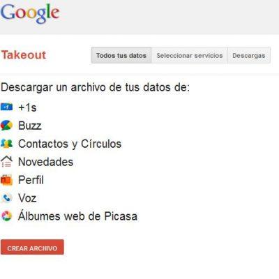 Google+ Takeout: haz una copia de seguridad de toda tu información