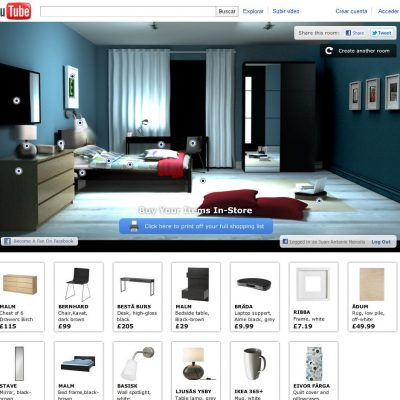 "Ikea lanza ""Happy to Bed"" una app de Facebook integrada en YouTube"