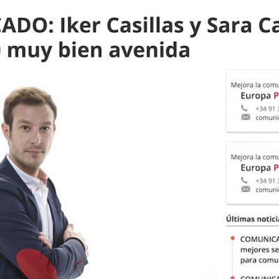 """Artículo: """"Iker Casillas y Sara Carbonero, pareja 2.0 bien avenida"""""""