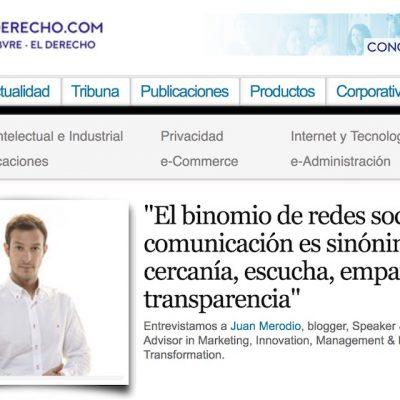 Entrevista: Redes sociales y comunicación, cercanía  y transparencia