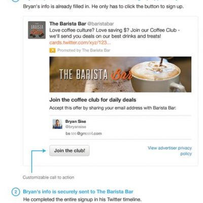 Lead Generation Card: Twitter lanza un Formato para Captar Leads