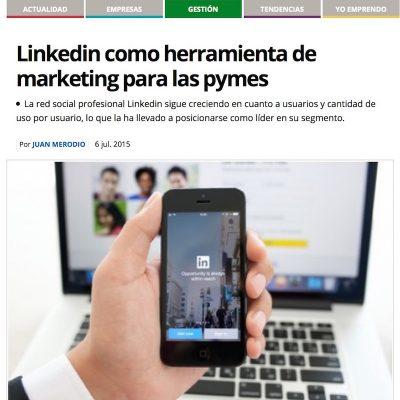 """Artículo: """"Linkedin como herramienta de marketing para las PYMES"""""""