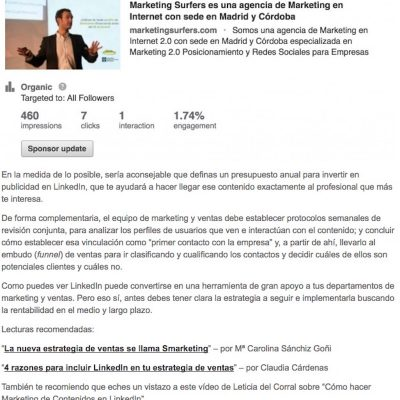 """LinkedIn como potencia de los departamentos de marketing y ventas"""