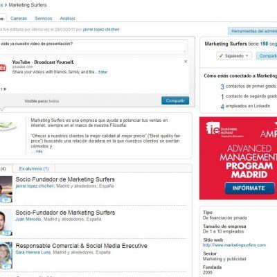 Las empresas ya pueden actualizar su estado en Linkedin