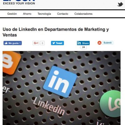 Artículo: «Uso de LinkedIn en Departamentos de Marketing y Ventas»