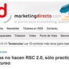 """Artículo: """"Las marcas aún no hacen RSC 2.0, sólo hacen postureo"""" - Juan Merodio"""
