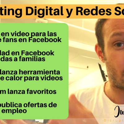 Marketing Digital y Redes Sociales: portadas en video para Facebook, herramienta de analítica de YouTube…