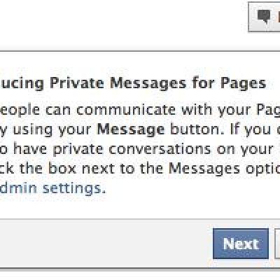 Facebook prueba un sistema mensajería privada entre fanpage y usuarios