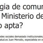 """Entrevista: """"La estrategia de comunicación digital del Ministerio de Sanidad ¿apta o no apta?"""" - Juan Merodio"""