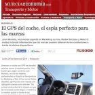 """Artículo: """"El GPS del coche, el espía perfecto para las marcas"""" - Juan Merodio"""