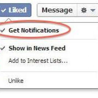 Facebook prueba que los usuarios reciban notificaciones de las fanpage