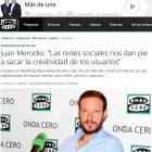 """Entrevista en Onda Cero: """"Las redes sociales nos dan pie a sacar la creatividad de los usuarios"""" - Juan Merodio"""